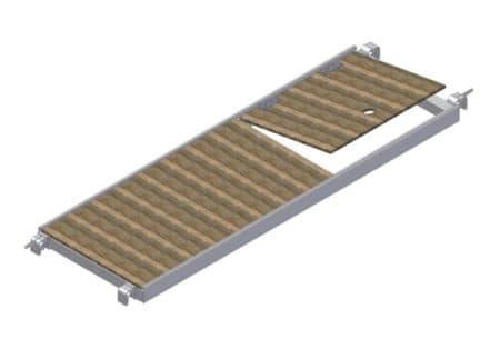 Albert Gerüste - Rollgerüst Belagbühne mit Durchstieg 1,90m x 0,60m - 2330