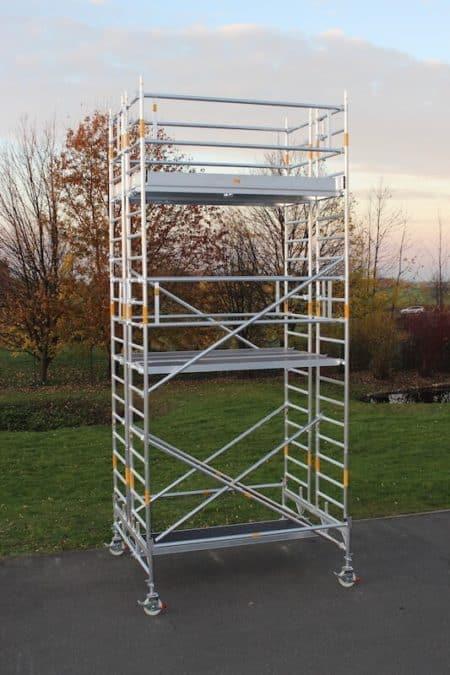 FahrGerüst 4800 | Albert Gerüste | 2.50m x 1.90m | Doppelaufbau mit Fahrbalken_3