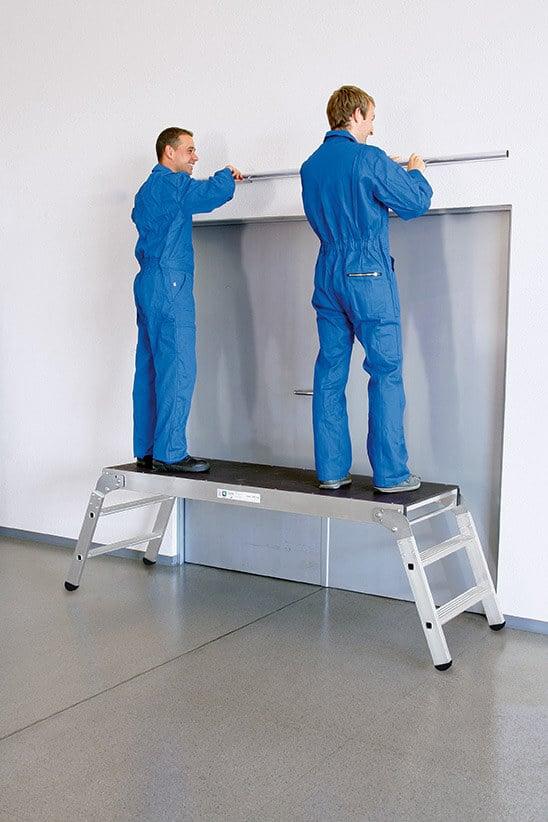g nzburger steigtechnik alu arbeitsdiele klappbar mein rollger st. Black Bedroom Furniture Sets. Home Design Ideas