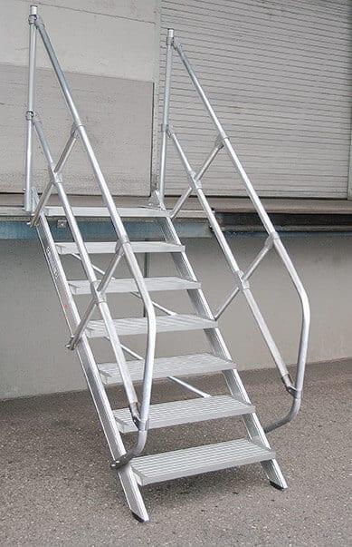 Günzburger Steigtechnik Aluminium Treppe 45°