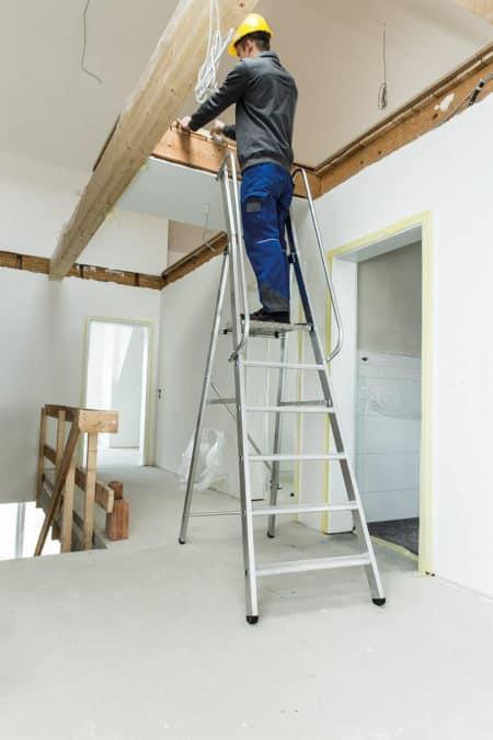 Günzburger Steigtechnik ML Bauleiter | Alu Stufen-Stehleiter