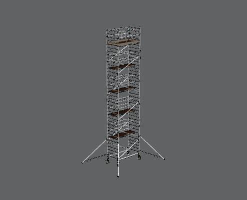 Steigtechnik Systeme - RollGerüst 135er Dickerchen mit einer Arbeitshöhe von 12.20 Meter