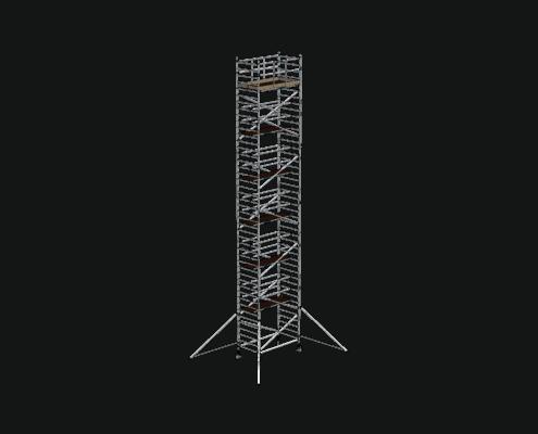 Steigtechnik Systeme - RollGerüst 135er Dickerchen mit einer Arbeitshöhe von 14.20 Meter