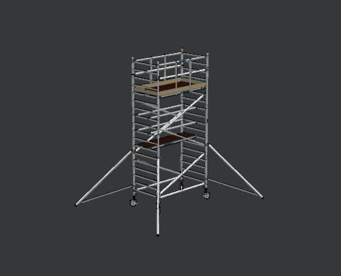 Steigtechnik Systeme - RollGerüst 135er Dickerchen mit einer Arbeitshöhe von 6.20 Meter