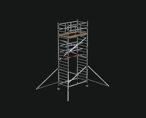 Steigtechnik Systeme - RollGerüst 135er Dickerchen mit einer Arbeitshöhe von 7.20 Meter