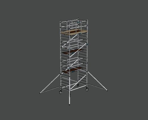 Steigtechnik Systeme - RollGerüst 135er Dickerchen mit einer Arbeitshöhe von 8.20 Meter