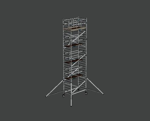 Steigtechnik Systeme - RollGerüst 135er Dickerchen mit einer Arbeitshöhe von 10.20 Meter