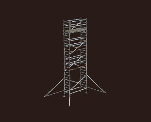 Steigtechnik Systeme - RollGerüst 90er Favorit mit einer Arbeitshöhe von 9.20 Meter