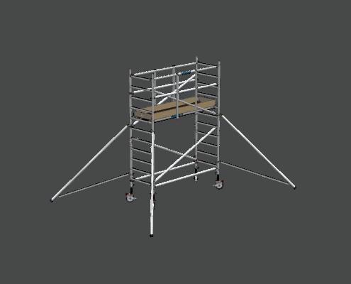 Steigtechnik Systeme - RollGerüst 90er Favorit mit einer Arbeitshöhe von 4.20 Meter