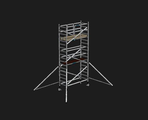 Steigtechnik Systeme - RollGerüst 90er Favorit mit einer Arbeitshöhe von 6.20 Meter