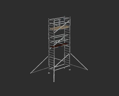 Steigtechnik Systeme - RollGerüst 90er Favorit mit einer Arbeitshöhe von 7.20 Meter