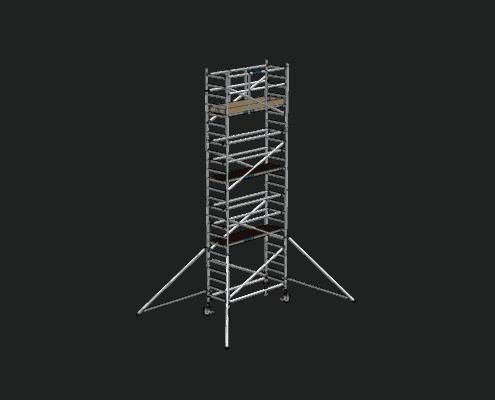 Steigtechnik Systeme - RollGerüst 90er Favorit mit einer Arbeitshöhe von 8.20 Meter