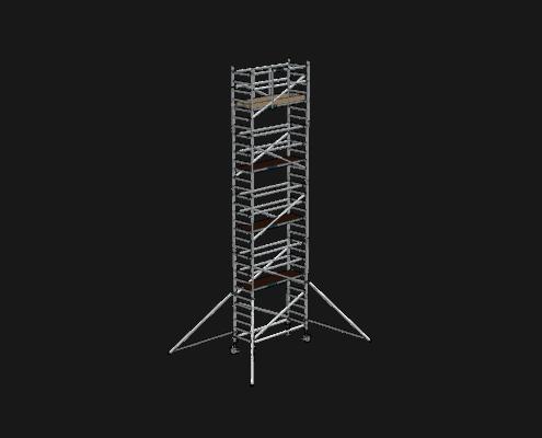 Steigtechnik Systeme - RollGerüst 90er Favorit mit einer Arbeitshöhe von 10.20 Meter