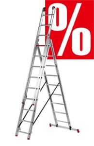 Leitern aus Alu und Holz im Angebot
