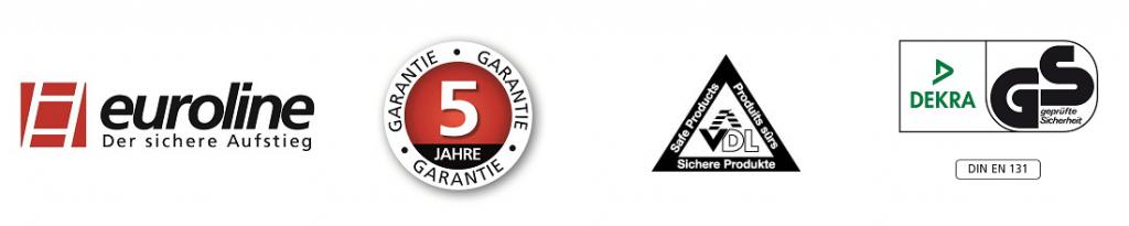 euroline holzleiter mit comfort-breitsprosse logo