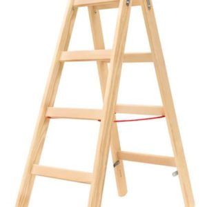 Hymer Holz-Sprossen-Stehleiter 71410
