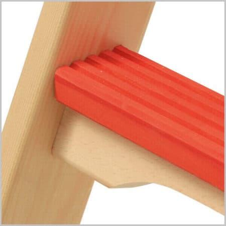 Hymer Holz-Tiefsprossen-Stehleiter 71490