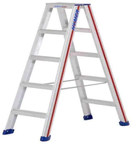 Hymer Stufen-Stehleiter 6024 - beidseitig begehbar
