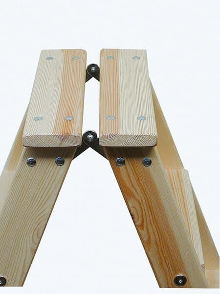 Krause Stabilo Holz Stufen-DoppelLeiter