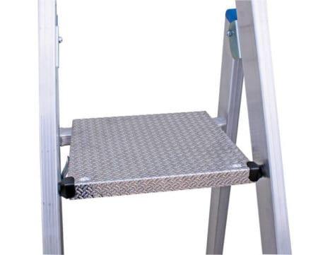 Krause Stabilo Stufen-Stehleiter - fahrbar mit Traverse