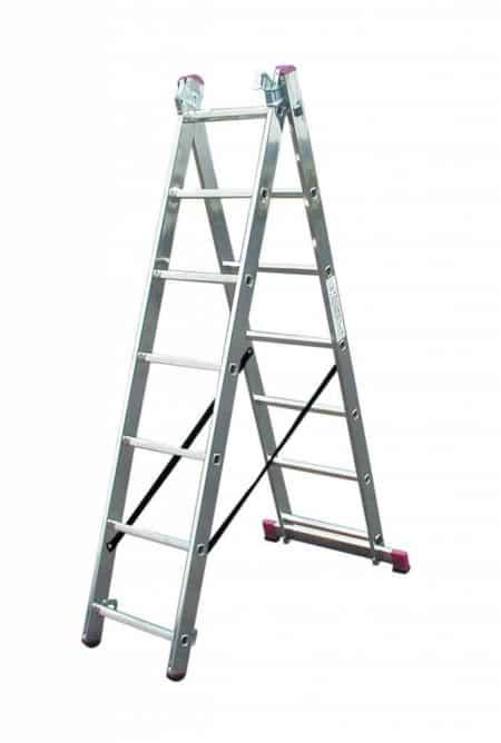 KRAUSE CORDA® Alu Vielzweckleiter mit Treppenfunktion