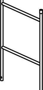 Hymer Fahrgerüst - Geländerteil mit 2 Sprossen
