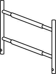 Hymer Fahrgerüst - Geländerteil 0.72x1.02