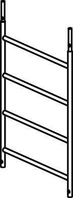 Hymer Fahrgerüst - Rahmenteil 4 Sprossen 607123