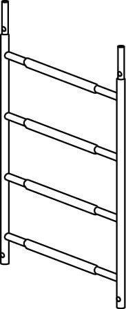 Hymer Fahrgerüst -Rahmenteil 4 Sprossen 7009423