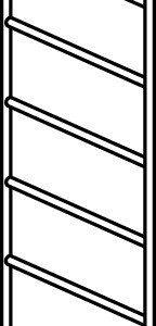 Hymer Fahrgerüst-Rahmenteil 6 Sprossen 0.80x1.65
