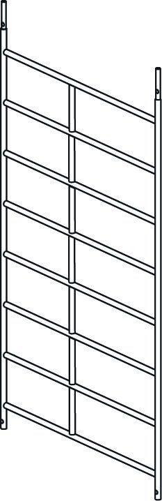 Hymer Fahrgerüst-Rahmenteil 8 Sprossen 1.50x2.15