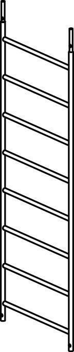 Hymer Fahrgerüst - Rahmenteil 8 Sprossen 707022