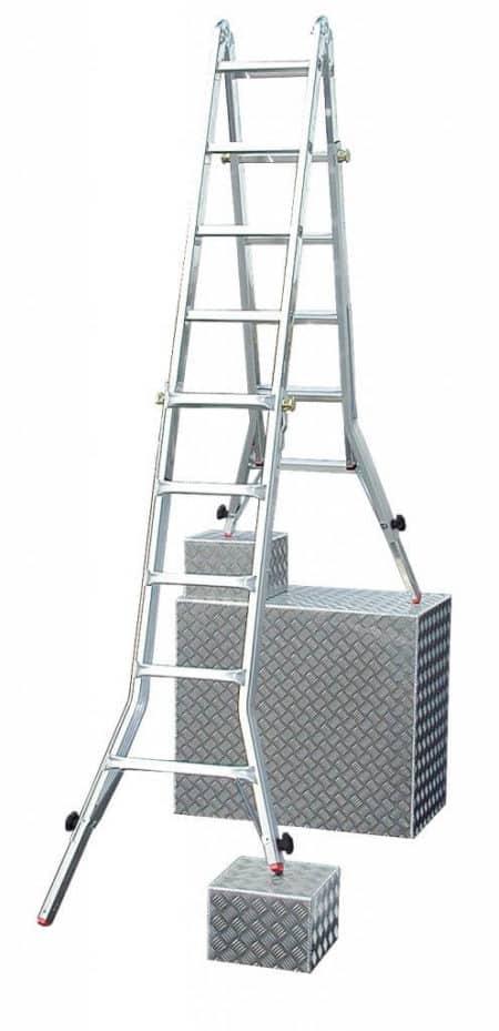 Krause TeleVario® Sprossen-Gelenk-TeleskopLeiter mit 4 Holmverlängerungen