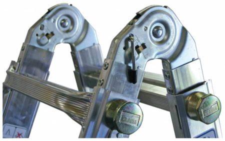 Krause Stabilo® Professional Sprossen-Gelenk-TeleskopLeiter mit 4 Holmverlängerungen