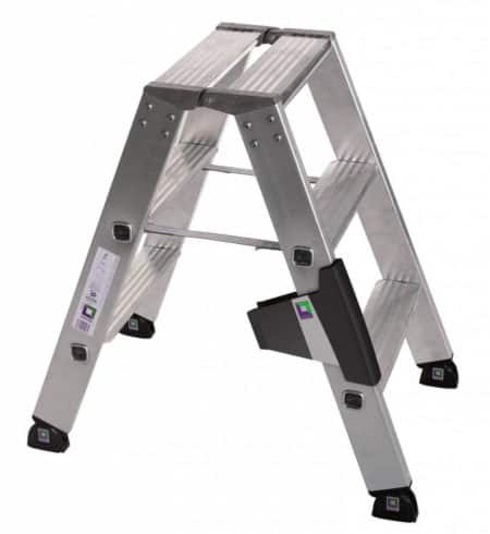 Günzburger Steigtechnik Leiter mit Stufen beidseitig begehbar