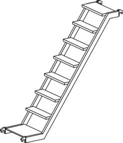 Hymer Fahrgerüst - Treppe