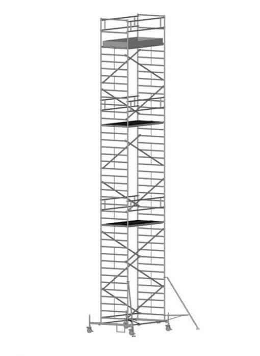 Zarges Z600 Fahrgerüst mit Fahrbalken, doppelte Plattformbreite