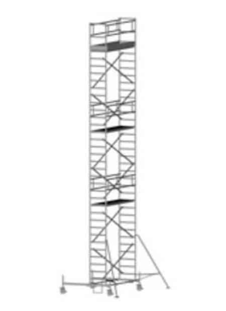 Zarges Z600 Fahrgerüst mit Fahrbalken, einfache Plattformbreite