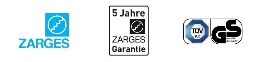 zarges Z200 - Z300 Garantie